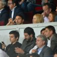 Zlatan Ibrahimovic et son épouse Helena - Match PSG-Barcelone de la Ligue des Champions au parc des princes à Paris le 30 septembre 2014. Le PSG à remporté le match sur le score de 3-2.