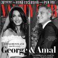 George Clooney et Amal Almuddin en couverture du Vanity Fair italien.