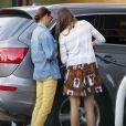 """"""" Exclusif - Teri Hatcher et sa fille se sont arrêtées à une station essence sur le chemin, le 3 octobre 2014. """""""