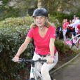 Michèle Laroque au Triathlon des Roses dans le Domaine National de Saint-Cloud le 4 octobre 2014.