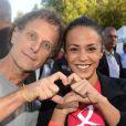 Charles Berling et Alice Belaïdi au Triathlon des Roses dans le Domaine National de Saint-Cloud le 4 octobre 2014.