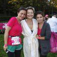Valerie Payet et sa fille au Triathlon des Roses dans le Domaine National de Saint-Cloud le 4 octobre 2014.