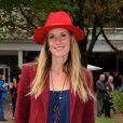 Sophie Thalmann lors du Qatar Prix de l'Arc de Triomphe à l'hippodrome de Longchamp à Paris, le 5 octobre 2014
