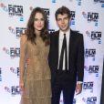 """Keira Knightley et son mari James Righton à la soirée du film """"The Imitation Game"""" à Londres le 8 octobre 2014."""