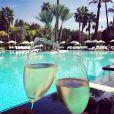 Champagne et vue de carte postale, un voyage de noces réussi ! Katherine Jenkins a publié sur Instagram quelques photos souvenirs de sa lune de miel avec son mari Andrew Levitas, comme celle-ci, postée le 30 septembre 2014
