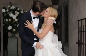 Michelle Hunziker mariée : Enceinte, la belle a dit oui à Tomaso Trussardi