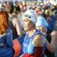 Teri Hatcher participe à un triathlon à Malibu le 14 septembre 2014.