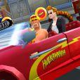 """Screenshot du catcheur Hulk Hogan dans le jeu """"Crazy Taxi City Rush"""" - octobre 2014"""