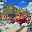 """Screenshot de Hulk Hogan dans le jeu """"Crazy Taxi City Rush"""" - octobre 2014"""