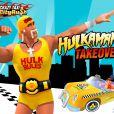 """Hulk Hogan dans le jeu """"Crazy Taxi City Rush"""" - octobre 2014"""