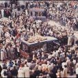 Les obsèques de Daniel Balavoine en 1986 à Biarritz.