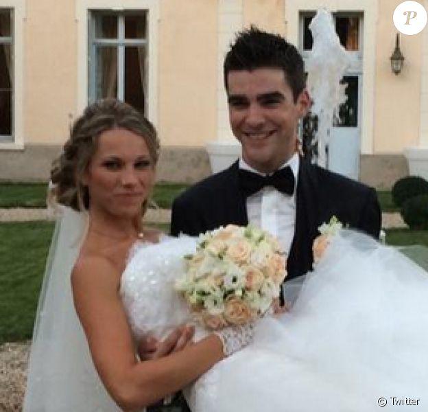 Mariage de Tony Gallopin et Marion Rousse le 18 octobre 2014.