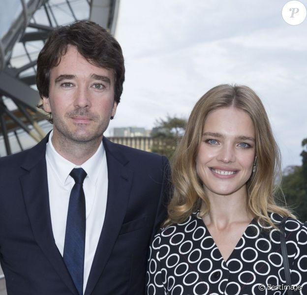 Antoine Arnault et sa compagne Natalia Vodianova - Inauguration du musée de la Fondation Louis Vuitton à Paris le 20 octobre 2014.