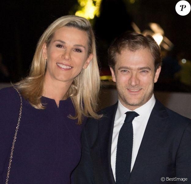 Laurence Ferrari et son époux Renaud Capuçon - Inauguration du musée de la Fondation Louis Vuitton à Paris le 20 octobre 2014.