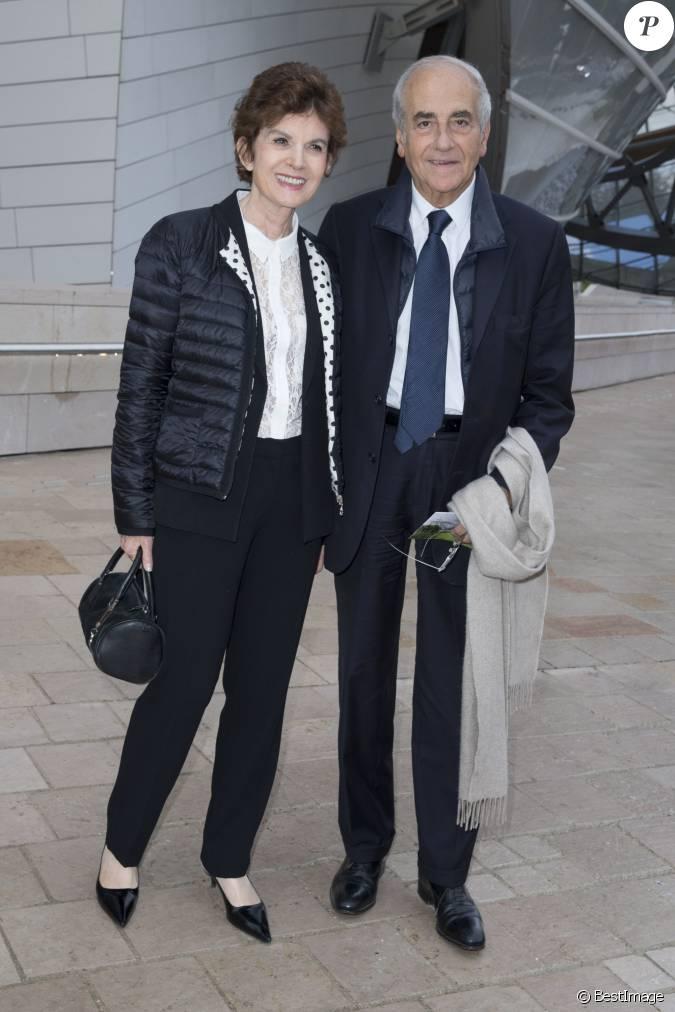 Jean pierre elkabbach et sa femme nicole avril inauguration du mus e de la fondation louis - Jean francois balmer et sa femme ...