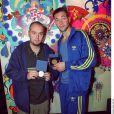 Martial Tricoche et Cédric Soubiron reçoivent le prix Pintemps Sacem à Paris le 28 mai 1999