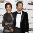 Matthew McConaughey et sa femme Camila Alves à la 28e cérémonie du American Cinematheque Award honorant avec Matthew McConaughey à Beverly Hills, le 21 octobre 2014.