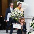 La petite amie de Gaël Lopes assiste aux obsèques de Gaël Lopes (candidat de Rising Star) au crématorium du cimetière du Père Lachaise à Paris, le 27 octobre 2014.