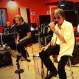 Johnny Hallyday, Eddy Mitchell et Jacques Dutronc en répétitions avant les concerts des Vieilles canailles à Paris du 5 au 10 novembre 2014.