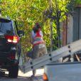 La mère de Ryan Gosling, Donna, se rendant chez Eva Mendes pour voir sa petite-fille Esmeralda le 17 septembre 2014 à Los Angeles