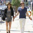 Ian Somerhalder et sa petite amie Nikki Reed vont déjeuner au restaurant avec des amis à West Hollywood, le 7 septembre 2014.