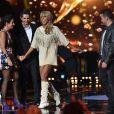 "Faustine Bollaert, Guillaume Pley, Cathy Guetta et Morgan Serrano - Deuxième prime de ""Rising Star"" sur M6. Le 2 octobre 2014."