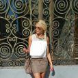 Kelly Vedovelli, mannequin, profite de ses vacances au Maroc.