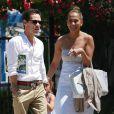 Jennifer Lopez et son ex-mari Marc Anthony vont chercher leur fille Emme à l'école à Los Angeles, le 19 juin 2013.