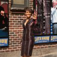 """Halle Berry arrive sur le plateau de l'émission """"Late Show With David Letterman"""" à New York, le 7 juillet 2014."""