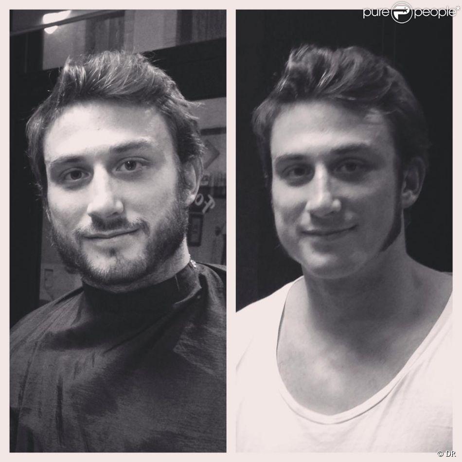 Maxime Médard est passé chez le barbier pour participer au mouvement Movember, le 1er novembre 2014, rasant sa barbe pour ne laisser que de belles rouflaquettes