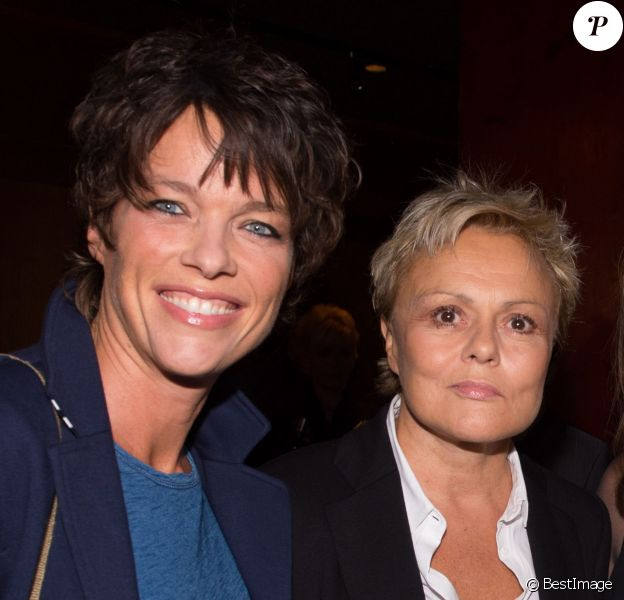 "Anne Le Nen et Muriel Robin - Cocktail pour le lancement du livre de Soad Bogdary ""Merci Papa"" en collaboration avec Anna-Véronique El Baze au Buddha Bar à Paris le 3 novembre 2014."