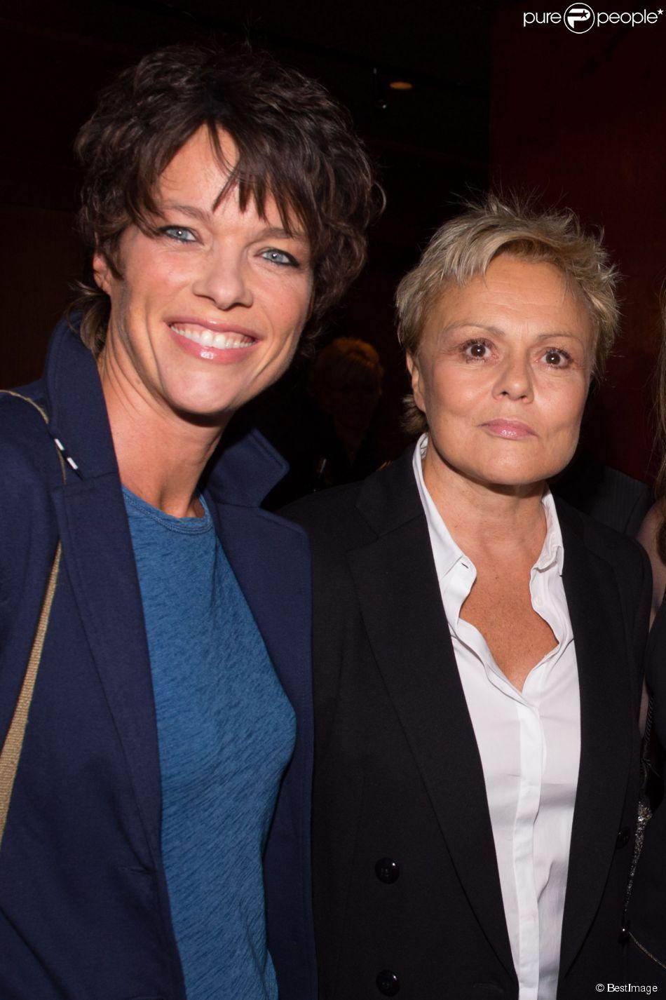 """Anne Le Nen et Muriel Robin - Cocktail pour le lancement du livre de Soad Bogdary """"Merci Papa"""" en collaboration avec Anna-Véronique El Baze au Buddha Bar à Paris le 3 novembre 2014."""