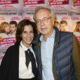 """Christine et Olivier Orban - 150e représentation de la pièce """"Je préfère qu'on reste amis"""" au théâtre Antoine, à Paris, le 5 novembre 2014."""