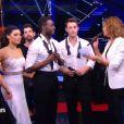 Corneille/Candice Pascal et Brian Joubert/Katrin Patchett  pour l'épreuve des duos   dans Danse avec les stars 5, sur TF1, le samedi 8 novembre 2014