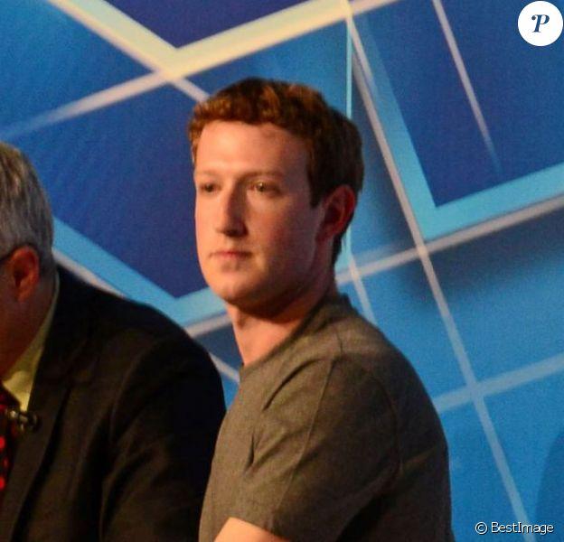 Le fondateur de Facebook, Mark Zuckerberg participe à une conférence au salon GSMA Mobile World Congress 2014 à Barcelone, le 24 février 2014.