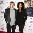Luc Besson et sa femme Virginie Silla lors de l'avant-première du film The Homesman dans le cadre de l'AFI Fest le 11 novembre 2014 à Hollywood