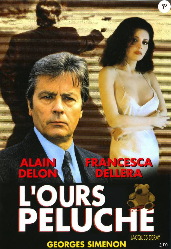 affiche de l 39 ours en peluche avec alain delon. Black Bedroom Furniture Sets. Home Design Ideas