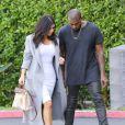 Kim Kardashian et Kanye West à Woodland Hills, Los Angeles, le 10 novembre 2014.