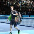 Andy Murray après sa défaite humiliante lors du Masters de Londres face à Roger Federer, le 13 novembre 2014 à Londres