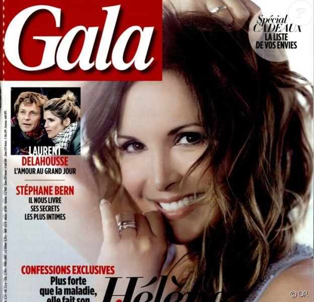 Hélène Segara en couverture du magazine Gala, daté du 19 novembre 2014.