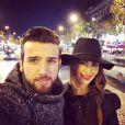Leila Ben Khalifa et Aymeric Bonnery (Secret Story 8) à Paris, vendredi 21 novembe 2014.