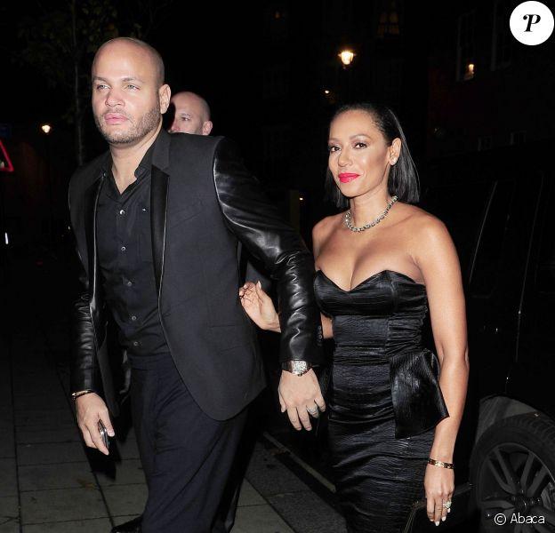Mel B et son mari Stephen Belafonte lors du Katie Piper Foundation Ball à Londres, le 27 novembre 2014.