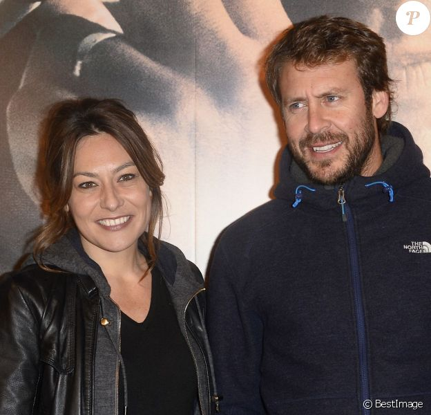 """Shirley Bousquet et son compagnon Laurent Ballesta - Avant-première du film """"La French"""" au cinéma Gaumont Opéra à Paris, le 25 novembre 2014"""