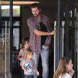Scott Disick et ses enfants Mason et Penelope, à Los Angeles. Le 29 Novembre 2014
