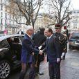 Le roi Carl XVI Gustaf a ouvert une conférence sur le réchauffement climatique en compagnie de François Hollande, le 3 décembre 2014 à Paris au Collège de France