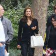 Eva Mendes, le 2 novembre 2014 sur le tournage d'une publicité à Los Angeles, dévoile sa silhouette six semaines après avoir accouché : elle est au top !