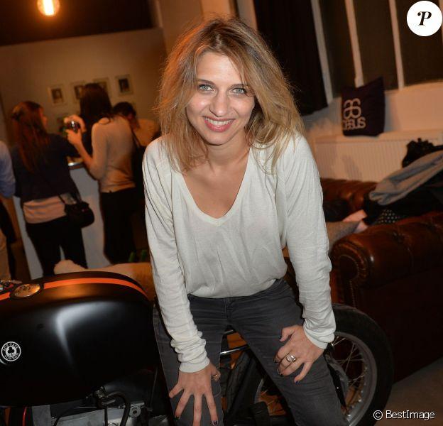 """Amandine Bourgeois - Cocktail de présentation de la marque """"Basus"""" au Perchoir à Paris, le 4 décembre 2014."""