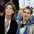 La princesse Caroline de Hanovre et Charlotte Casiraghi - Gala de charité Style & Sport Competition for AMADE au troisième jour du Gucci Paris Masters à Villepinte le 6 décembre 2014