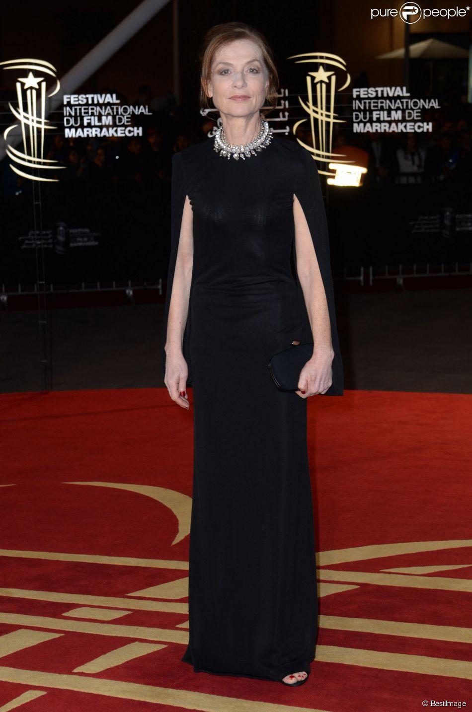 Isabelle Huppert - 14e festival international du film de Marrakech au Maroc le 6 décembre 2014.