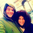 Amir de The Voice 3 et sa belle Lita à l'Arc de Triomphe à Paris